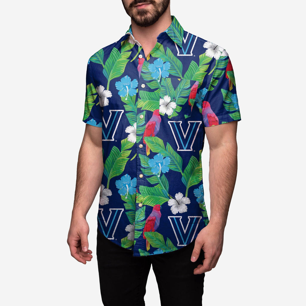 Villanova Wildcats Floral Button Up Shirt FOCO 2XL - FOCO.com