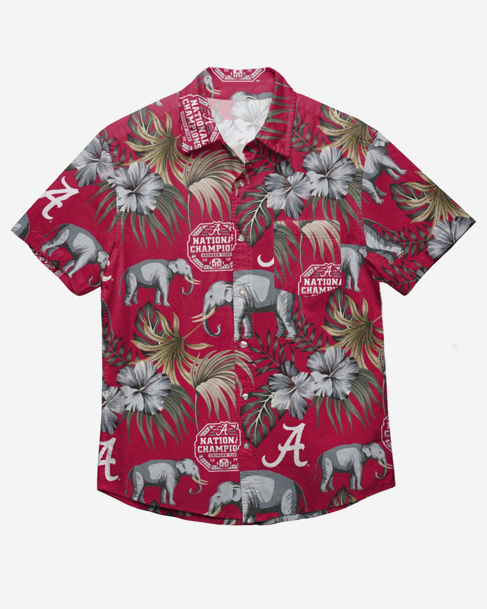 Alabama Crimson Tide 2020 Football National Champions Wildlife Button Up Shirt FOCO - FOCO.com