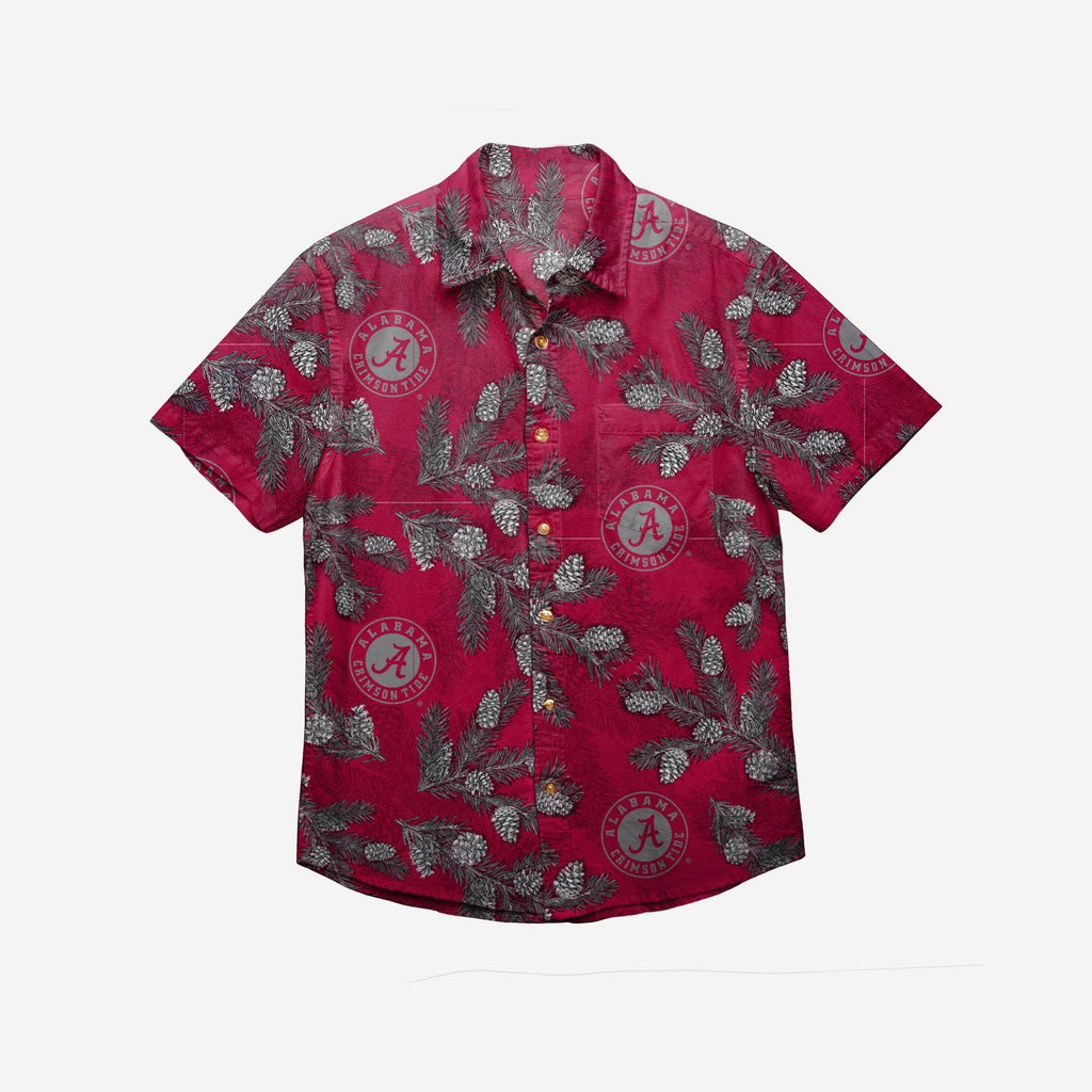 Alabama Crimson Tide Mens Pinecone Button Up Shirt
