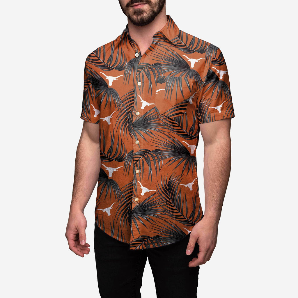 Texas Longhorns Hawaiian Button Up Shirt FOCO S - FOCO.com