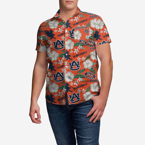 Auburn Tigers City Style Button Up Shirt