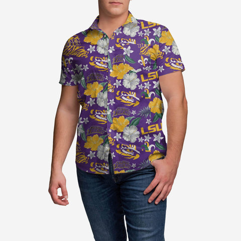 LSU Tigers City Style Button Up Shirt