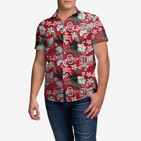 Ohio State Buckeyes City Style Button Up Shirt