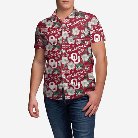 Oklahoma Sooners City Style Button Up Shirt