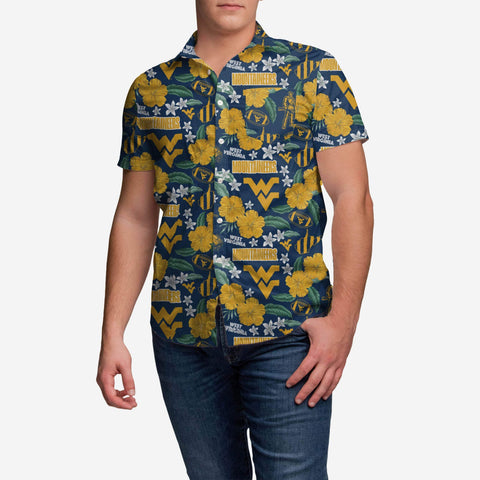 West Virginia Mountaineers City Style Button Up Shirt