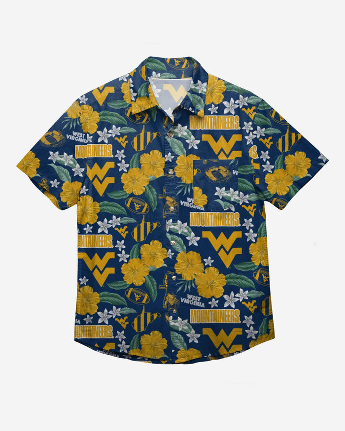 West Virginia Mountaineers City Style Button Up Shirt FOCO - FOCO.com