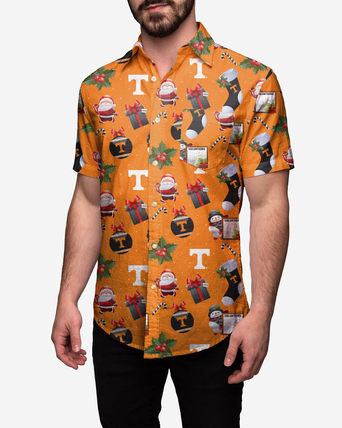 Tennessee Volunteers Christmas Explosion Button Up Shirt FOCO S - FOCO.com