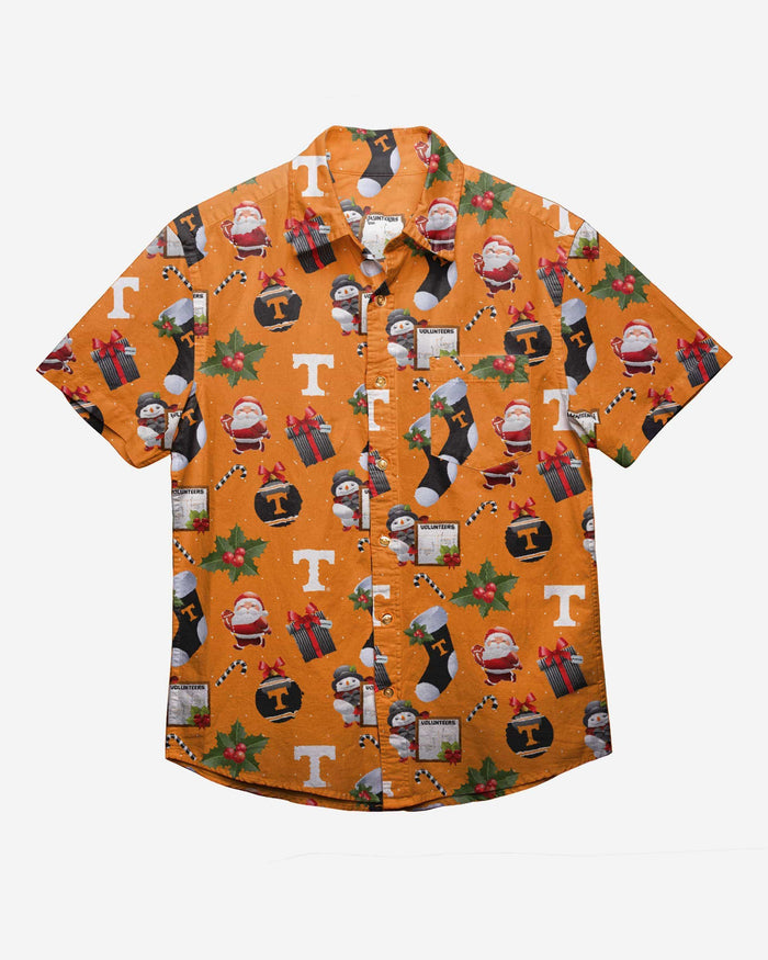 Tennessee Volunteers Christmas Explosion Button Up Shirt FOCO - FOCO.com