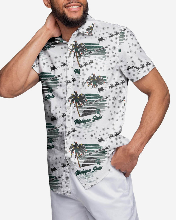 Michigan State Spartans Winter Tropical Button Up Shirt FOCO 2XL - FOCO.com