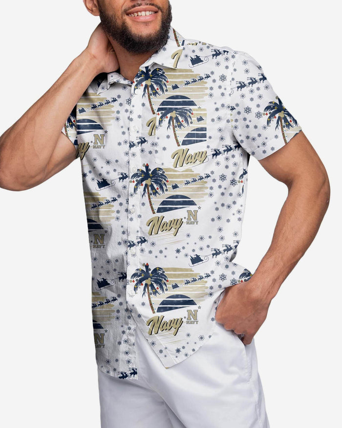 Navy Midshipmen Winter Tropical Button Up Shirt FOCO S - FOCO.com