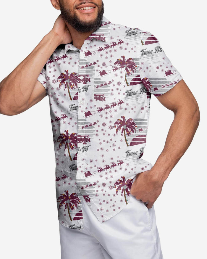 Texas A&M Aggies Winter Tropical Button Up Shirt FOCO 2XL - FOCO.com