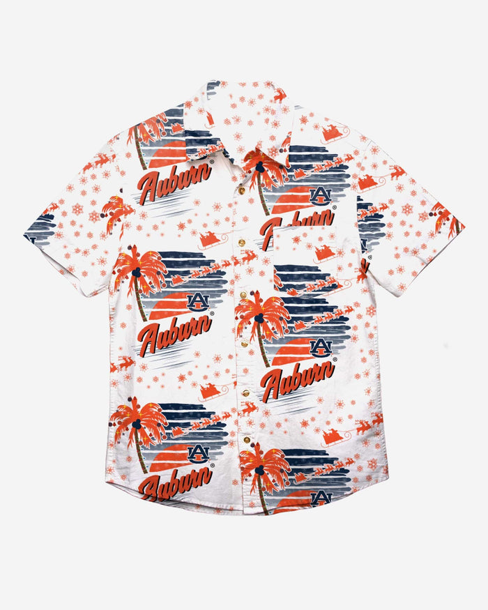 Auburn Tigers Winter Tropical Button Up Shirt FOCO - FOCO.com