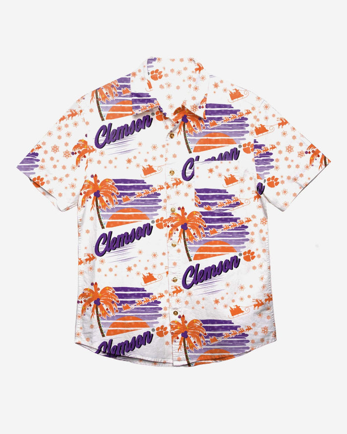 Clemson Tigers Winter Tropical Button Up Shirt FOCO - FOCO.com
