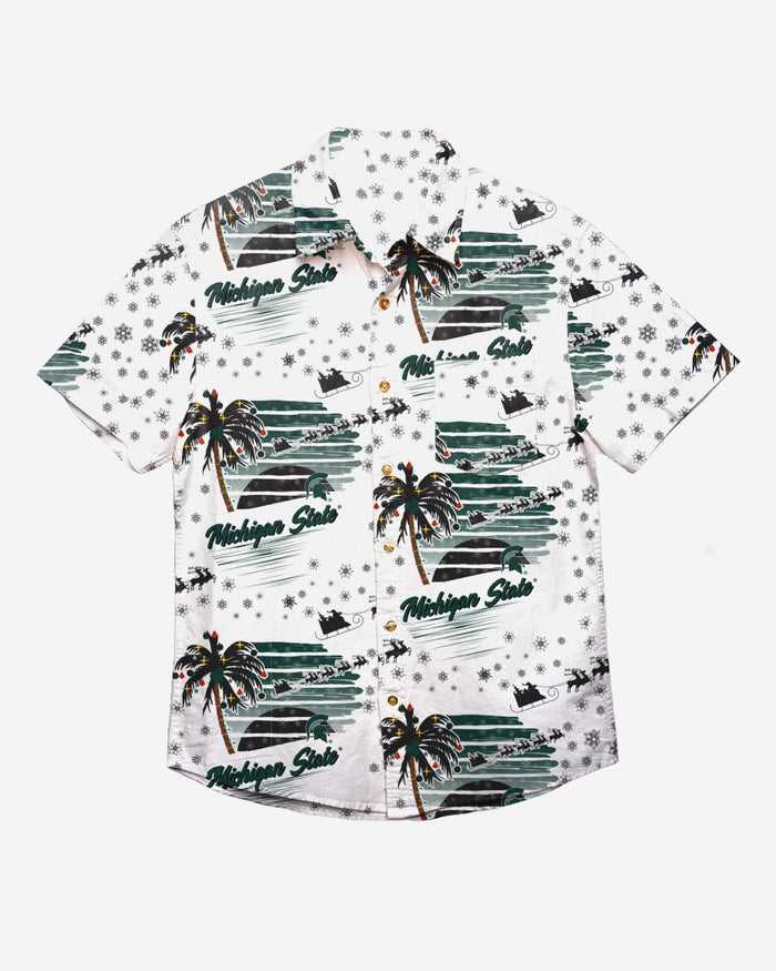 Michigan State Spartans Winter Tropical Button Up Shirt FOCO - FOCO.com