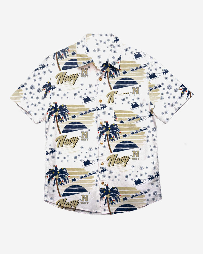 Navy Midshipmen Winter Tropical Button Up Shirt FOCO - FOCO.com