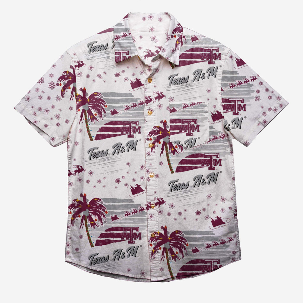 Texas A&M Aggies Winter Tropical Button Up Shirt