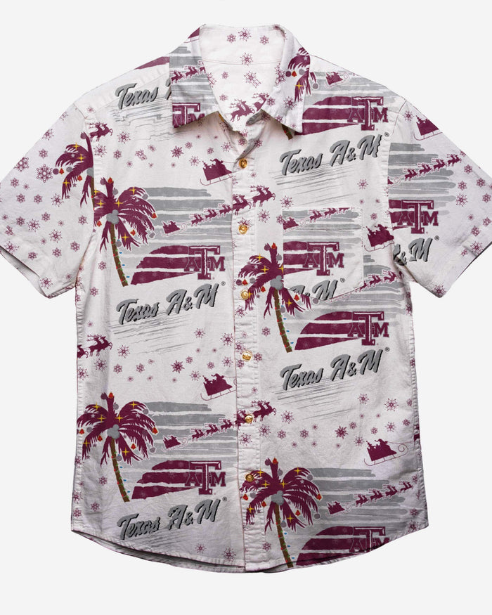 Texas A&M Aggies Winter Tropical Button Up Shirt FOCO - FOCO.com