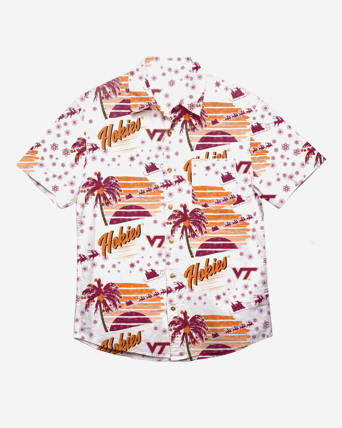 Virginia Tech Hokies Winter Tropical Button Up Shirt FOCO - FOCO.com