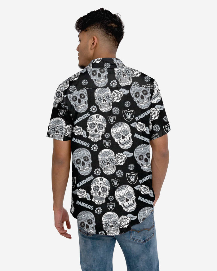 Las Vegas Raiders Day Of The Dead Button Up Shirt FOCO - FOCO.com