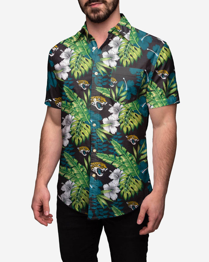 Jacksonville Jaguars Floral Button Up Shirt FOCO S - FOCO.com
