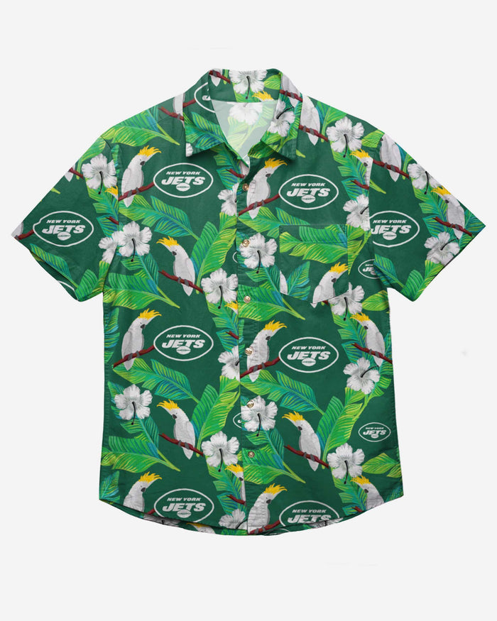 New York Jets Floral Button Up Shirt FOCO - FOCO.com