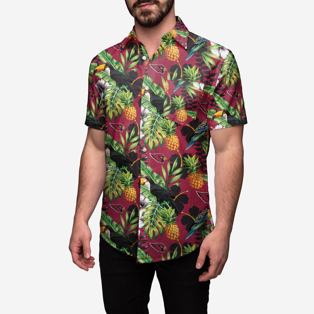 Arizona Cardinals Floral Button Up Shirt FOCO - FOCO.com
