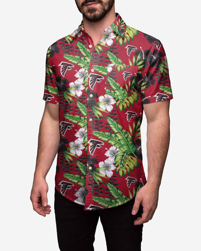 Atlanta Falcons Floral Button Up Shirt FOCO 2XL - FOCO.com
