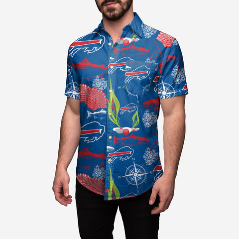 Buffalo Bills Floral Button Up Shirt