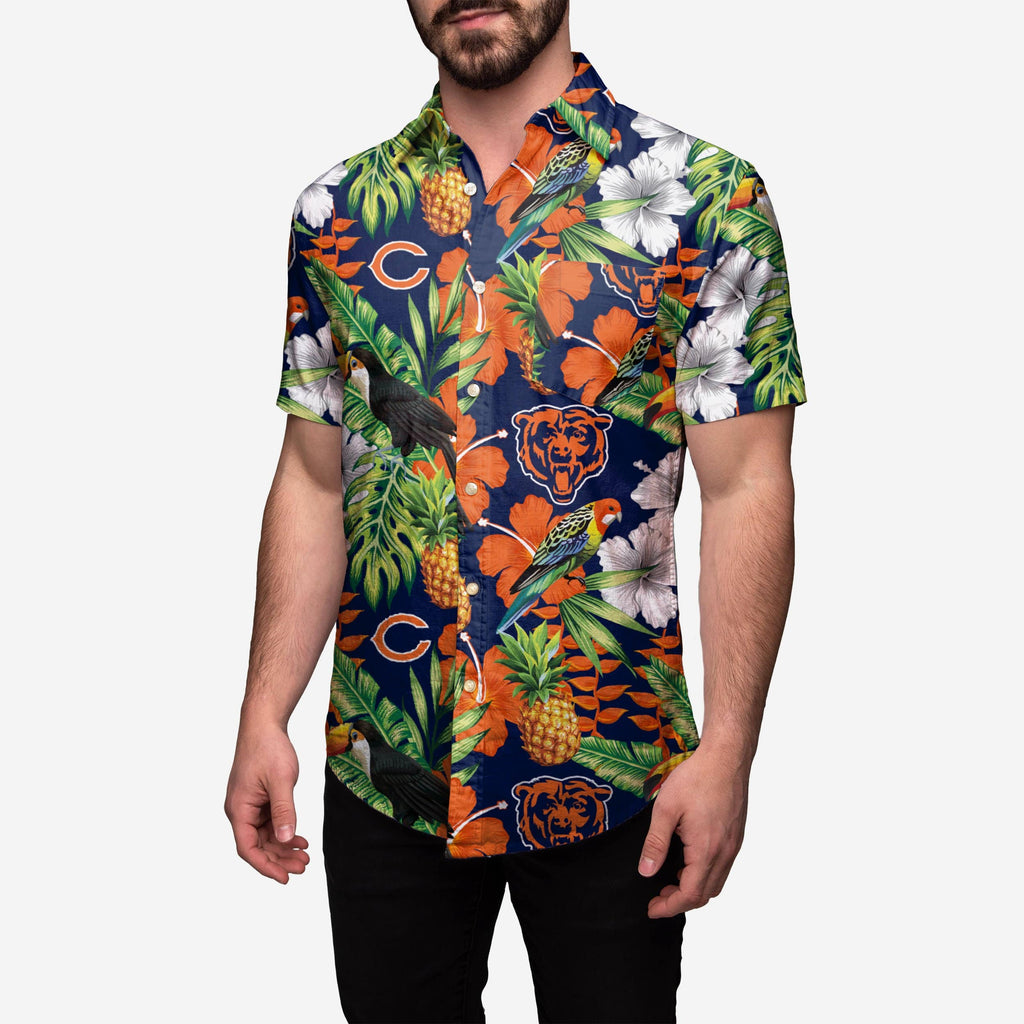 Chicago Bears Floral Button Up Shirt FOCO - FOCO.com