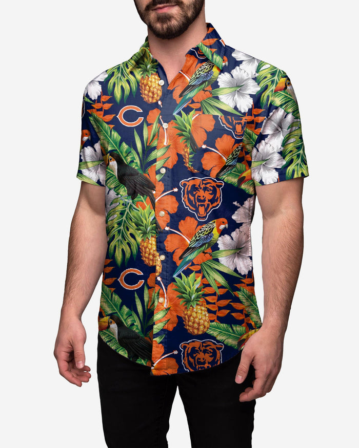 Chicago Bears Floral Button Up Shirt FOCO 2XL - FOCO.com