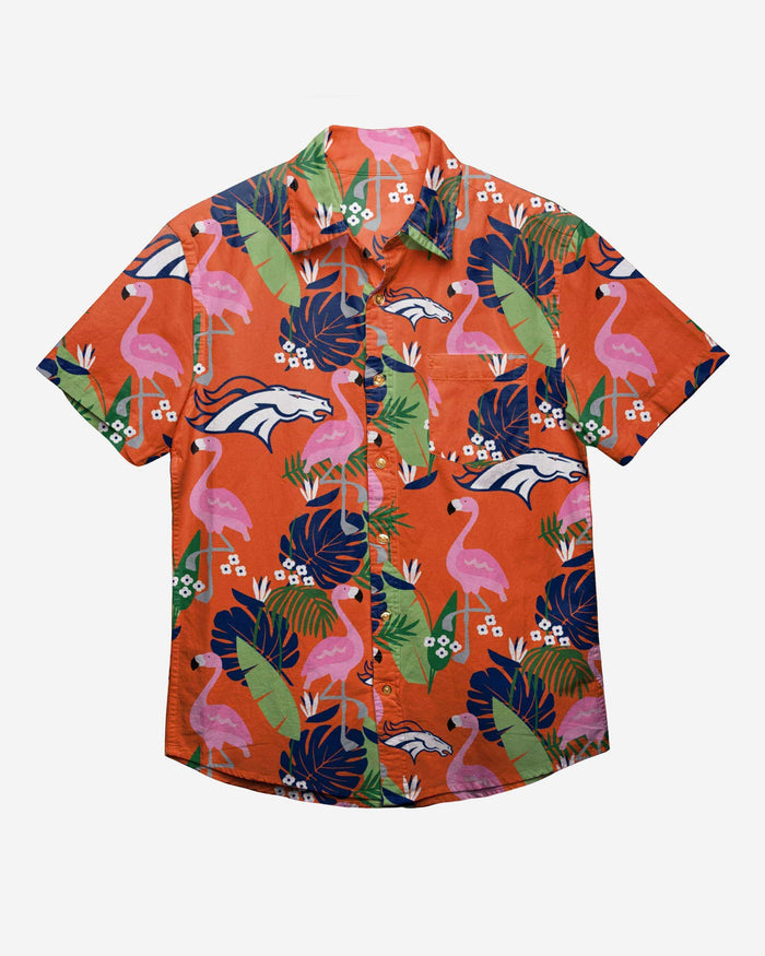 Denver Broncos Floral Button Up Shirt FOCO - FOCO.com