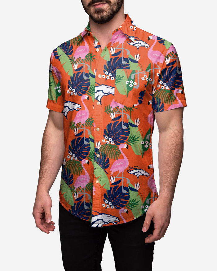 Denver Broncos Floral Button Up Shirt FOCO 2XL - FOCO.com