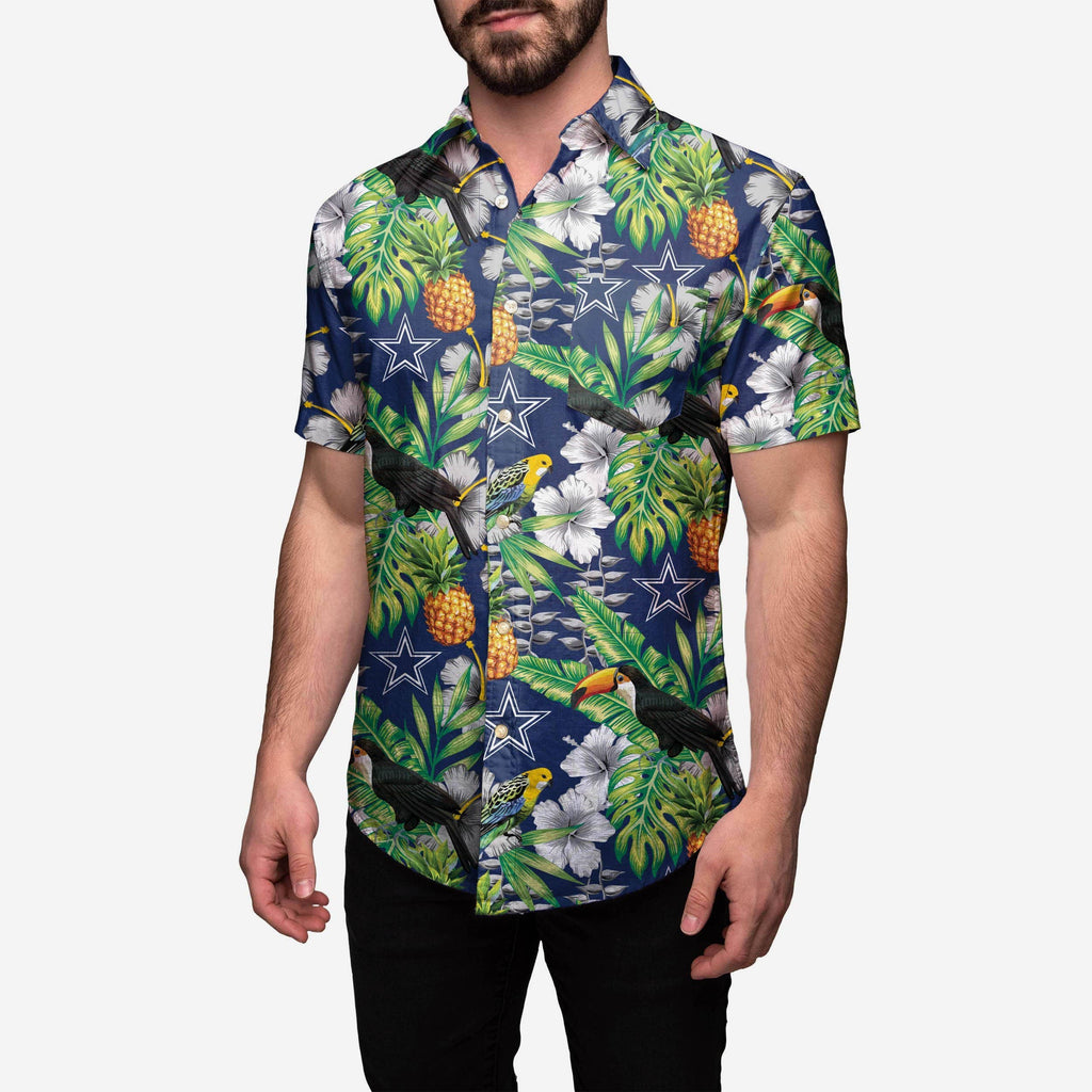Dallas Cowboys Floral Button Up Shirt FOCO S - FOCO.com