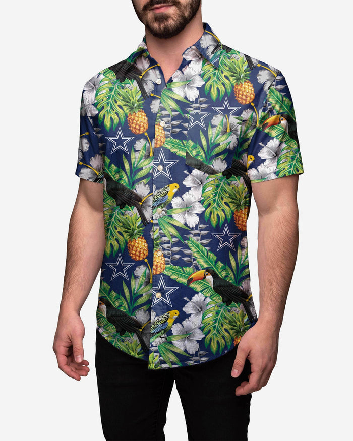 new product 69839 734f4 Dallas Cowboys Floral Button Up Shirt