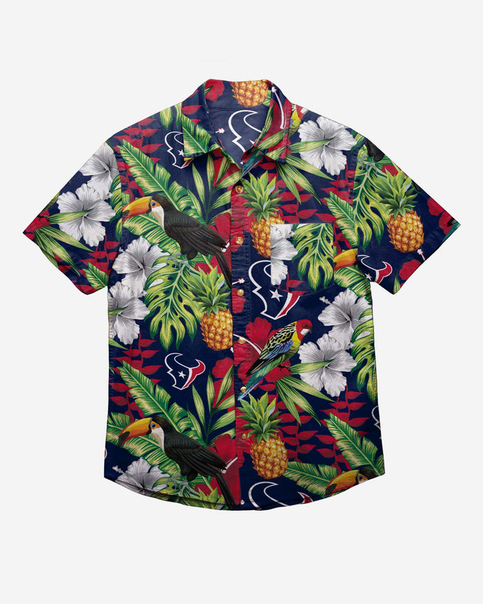 Houston Texans Floral Button Up Shirt FOCO - FOCO.com