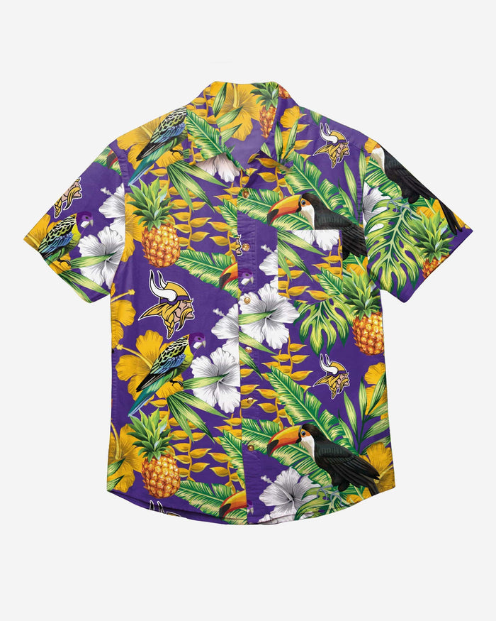 Minnesota Vikings Floral Button Up Shirt FOCO - FOCO.com