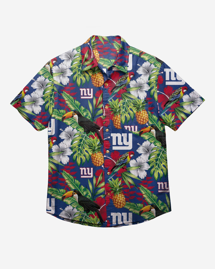 New York Giants Floral Button Up Shirt FOCO - FOCO.com