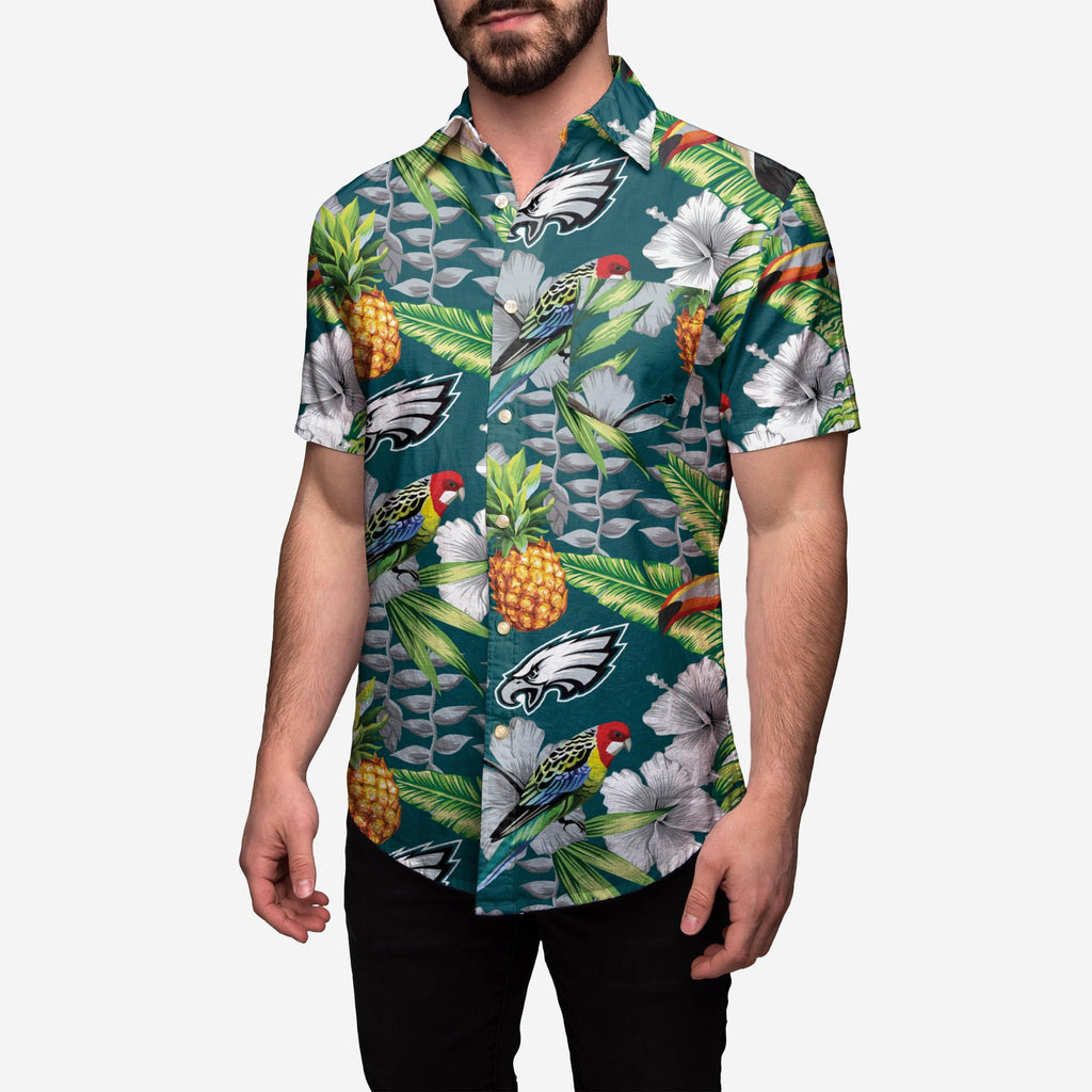 Philadelphia Eagles Floral Button Up Shirt FOCO 2XL - FOCO.com