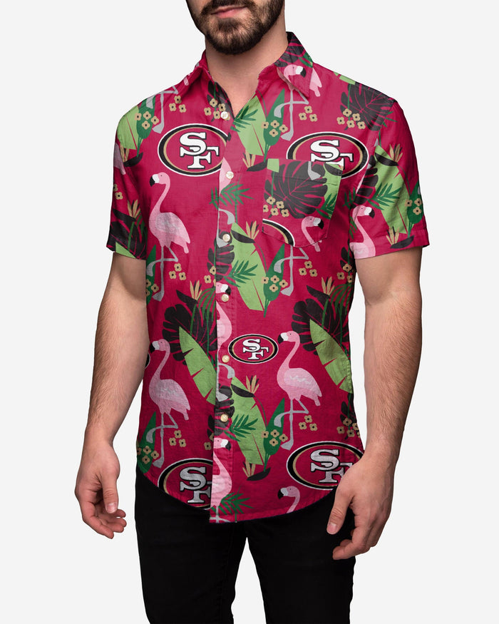 San Francisco 49ers Floral Button Up Shirt FOCO 2XL - FOCO.com