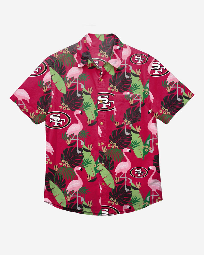 San Francisco 49ers Floral Button Up Shirt FOCO - FOCO.com