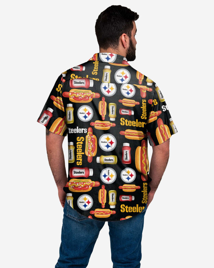Pittsburgh Steelers Grill Pro Button Up Shirt FOCO - FOCO.com