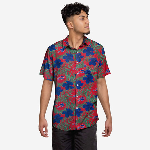 Buffalo Bills Hibiscus Button Up Shirt