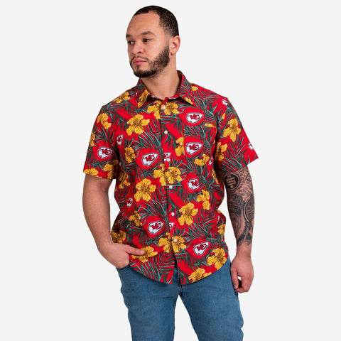 Kansas City Chiefs Hibiscus Button Up Shirt