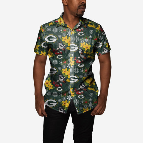 Green Bay Packers Mistletoe Button Up Shirt