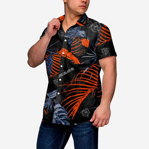 Chicago Bears Neon Palm Button Up Shirt