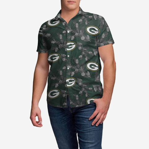 Green Bay Packers Pinecone Button Up Shirt
