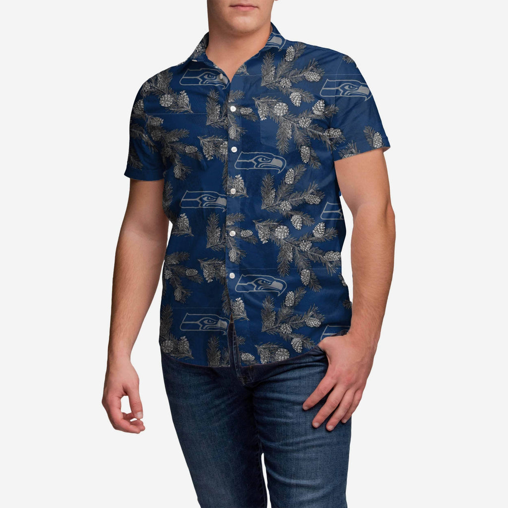 Seattle Seahawks Pinecone Button Up Shirt FOCO - FOCO.com