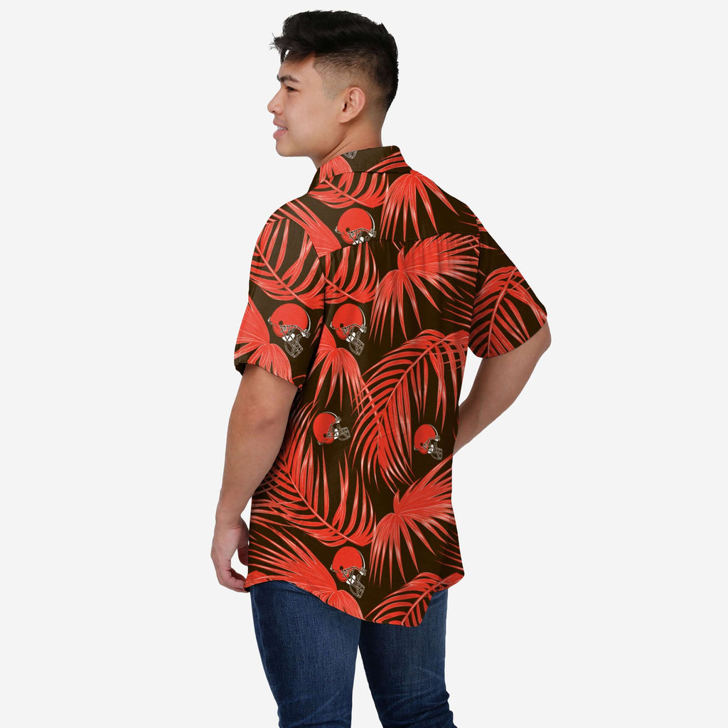Cleveland Browns Hawaiian Button Up Shirt FOCO - FOCO.com