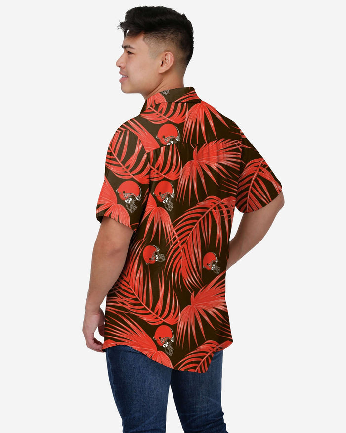 Cleveland Browns Hawaiian Button Up Shirt FOCO 2XL - FOCO.com