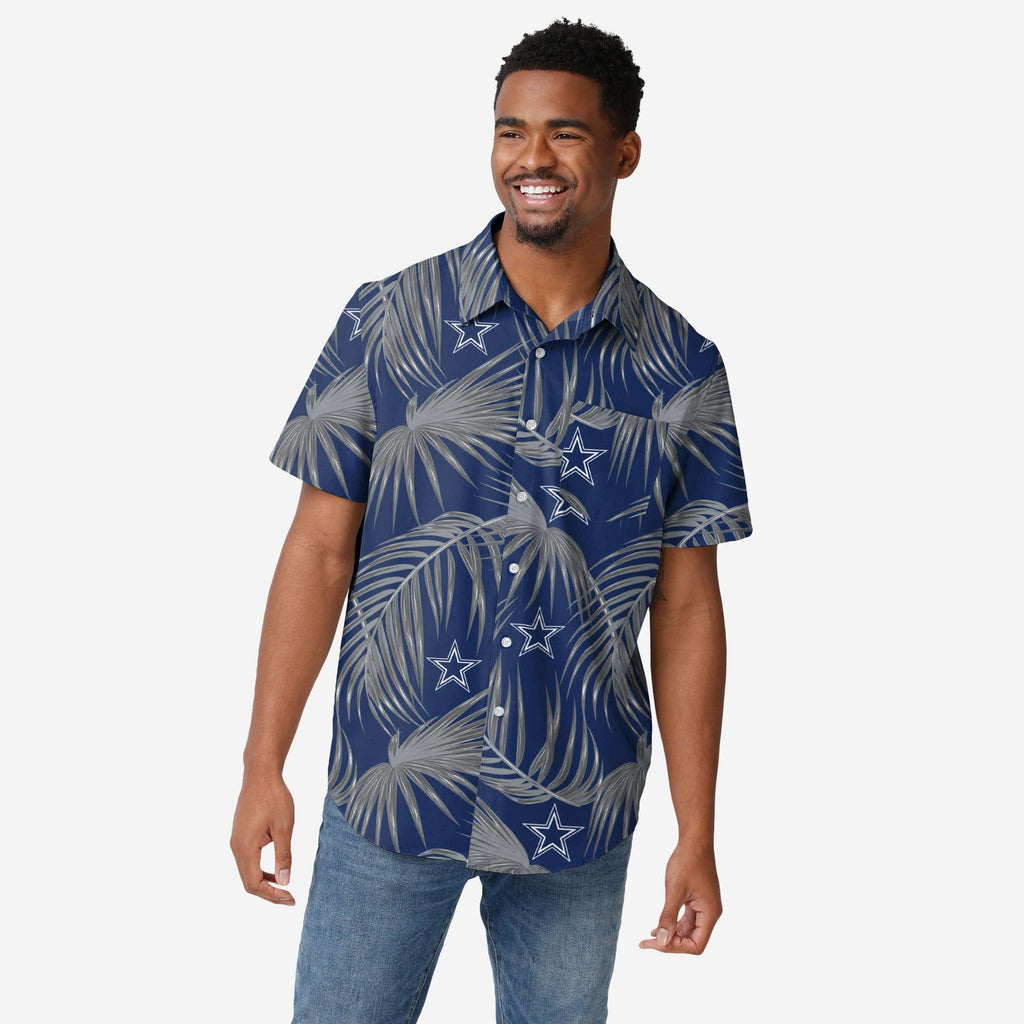 Dallas Cowboys Hawaiian Button Up Shirt FOCO S - FOCO.com